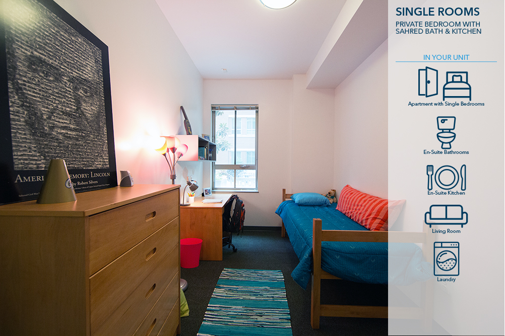 Individuals Single Rooms Summer Conference Housing Enrollment - Rooms for rent with private bathroom and kitchen