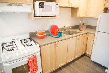 Building Group 1 Studio Apartment: 2109 F. St, Kitchen