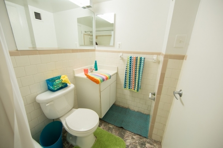 Graduate Housing: Single Studio Apartment Bathroom