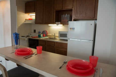 Graduate Housing: Single Studio Apartment Breakfast Bar