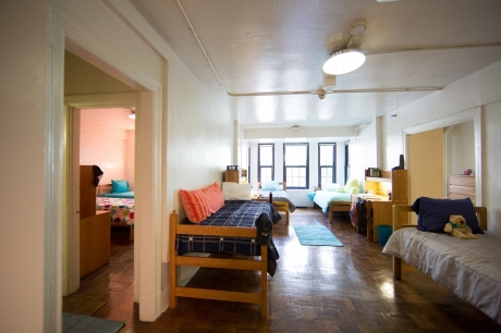 A Thurston Hall 6-person room on the Foggy Bottom Campus