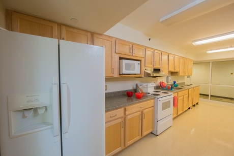 Shared floor kitchen in the Short-Stay Single Bedroom hall