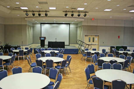 Foggy Bottom Continental Ballroom with banquet style setup, 144-200 people