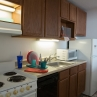 Graduate Housing: Single Studio Apartment Kitchen