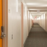 District House: View of the Orange Floor Hallway