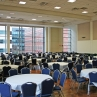 Foggy Bottom Grand Ballroom with banquet style setup, 200-270 people