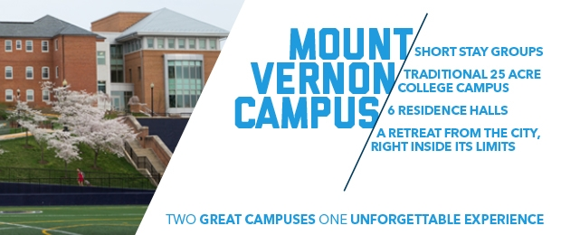 Conference Housing on the Mount Vernon Campus